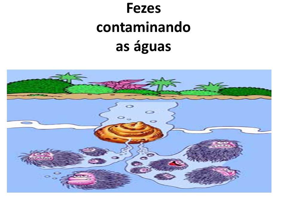 Fezes contaminando as águas
