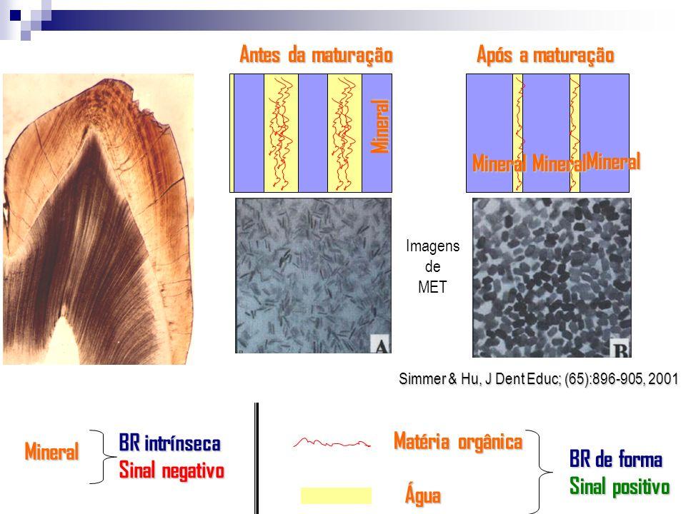 Antes da maturação Após a maturação Mineral Mineral BR intrínseca