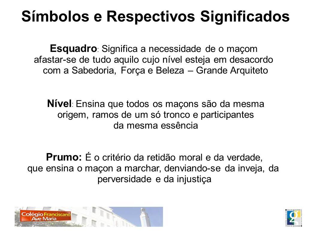 Símbolos e Respectivos Significados