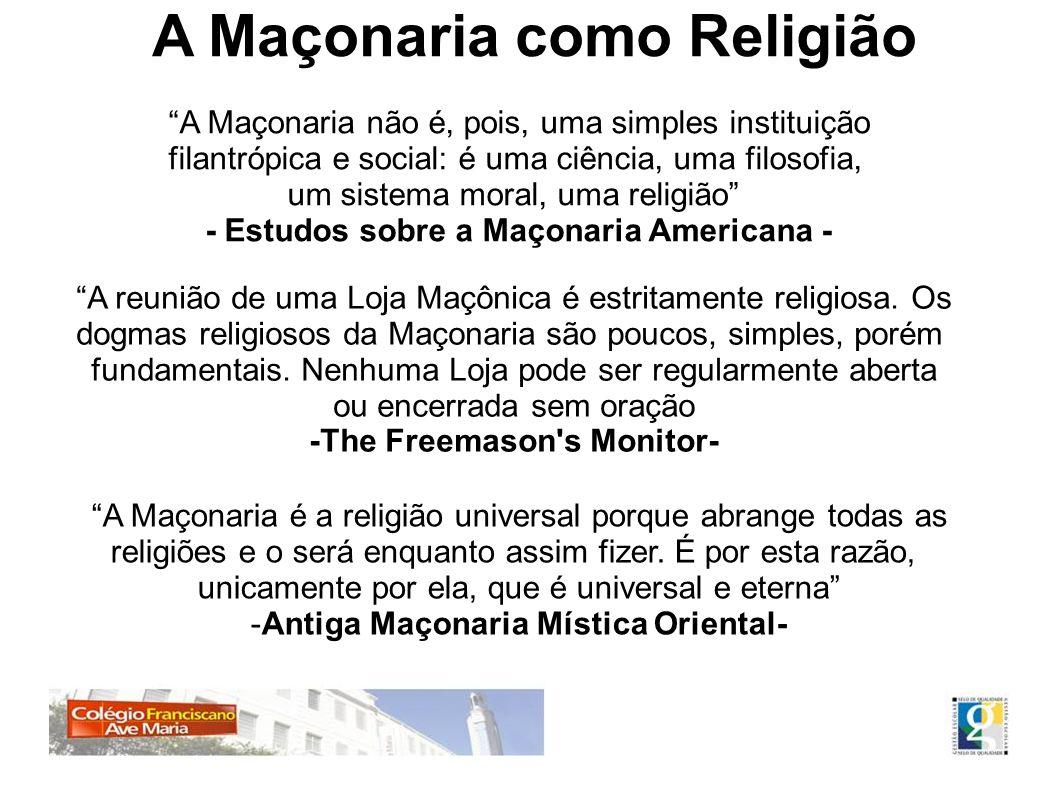 - Estudos sobre a Maçonaria Americana - -The Freemason s Monitor-