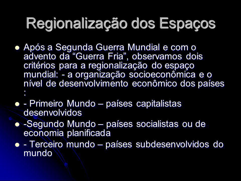Regionalização dos Espaços