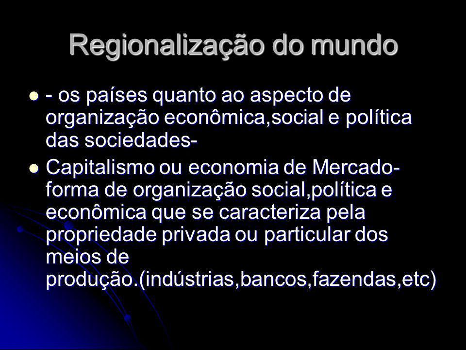 Regionalização do mundo