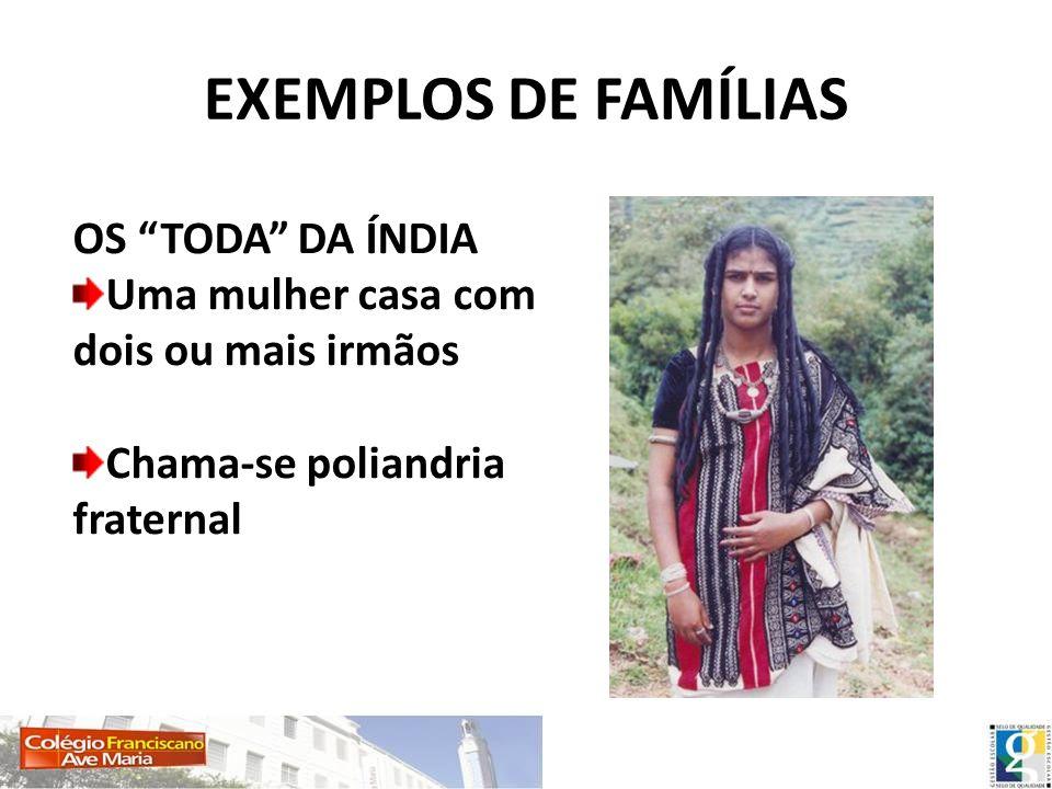 EXEMPLOS DE FAMÍLIAS OS TODA DA ÍNDIA