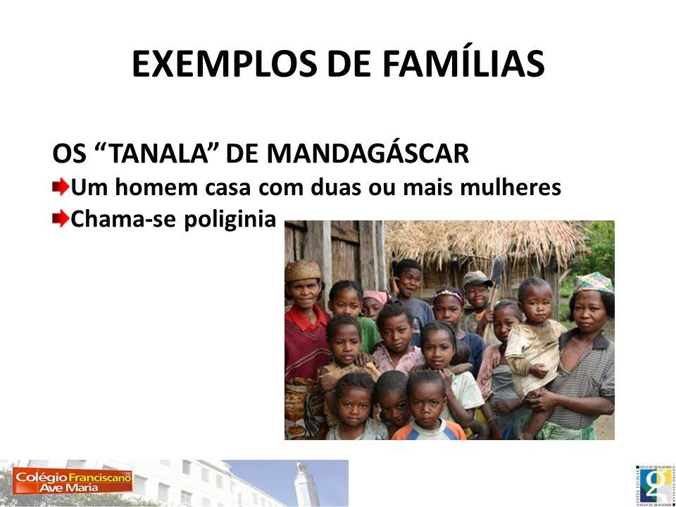 EXEMPLOS DE FAMÍLIAS OS TANALA DE MANDAGÁSCAR