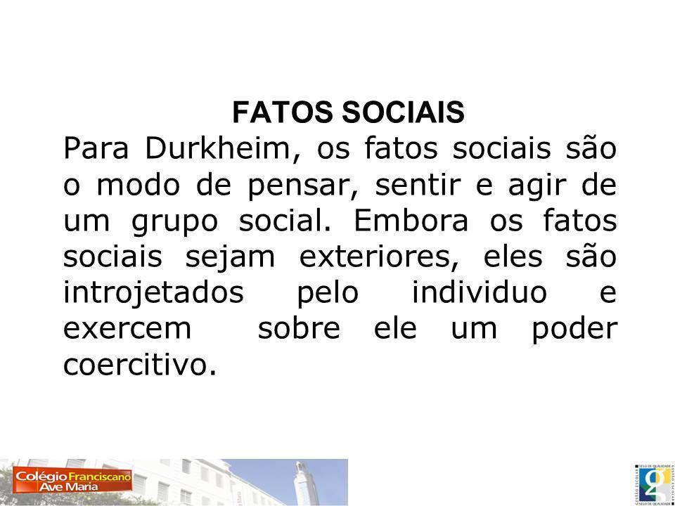 FATOS SOCIAIS