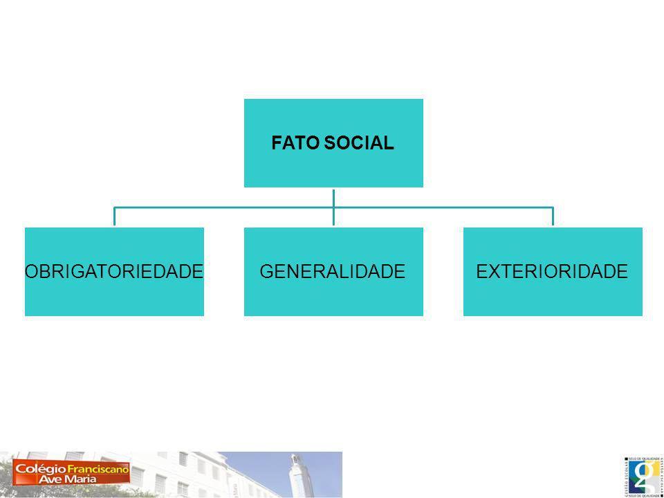 FATO SOCIAL OBRIGATORIEDADE GENERALIDADE EXTERIORIDADE
