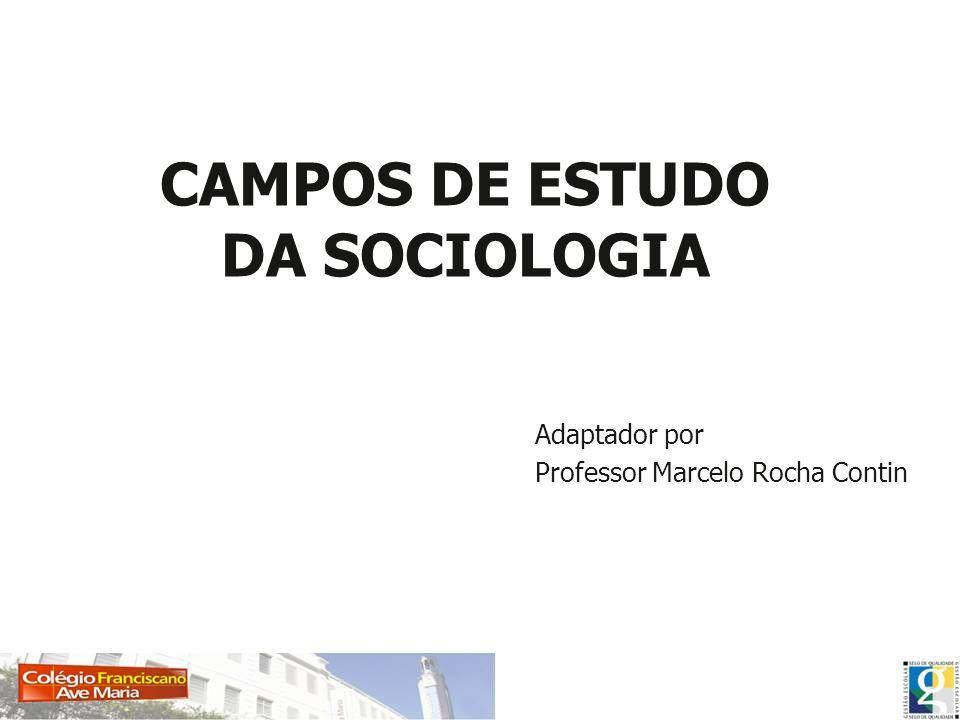 CAMPOS DE ESTUDO DA SOCIOLOGIA