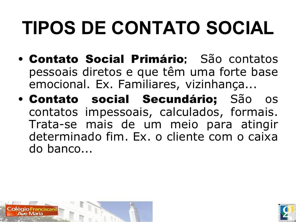 TIPOS DE CONTATO SOCIAL