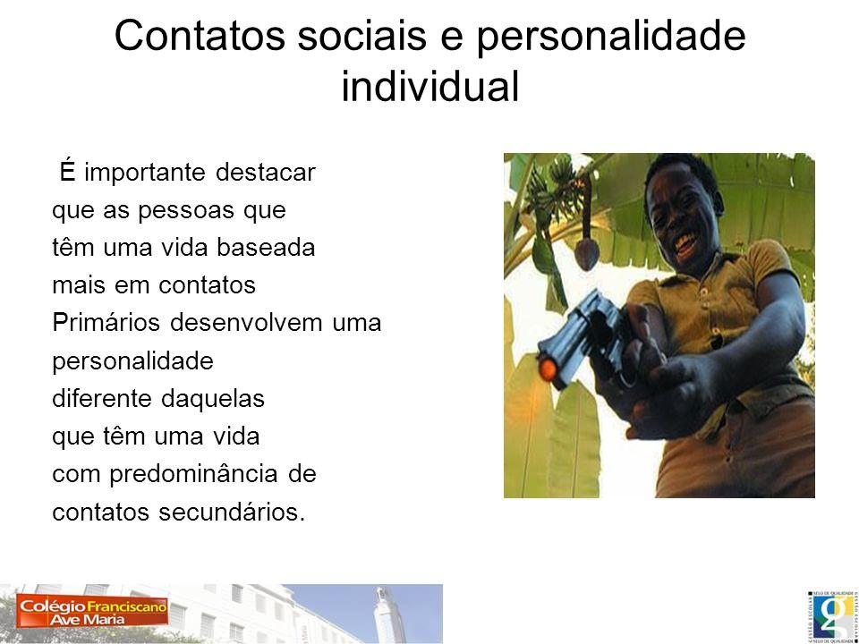 Contatos sociais e personalidade individual
