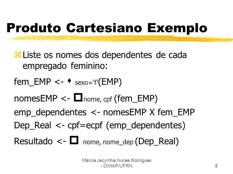 Produto Cartesiano Exemplo