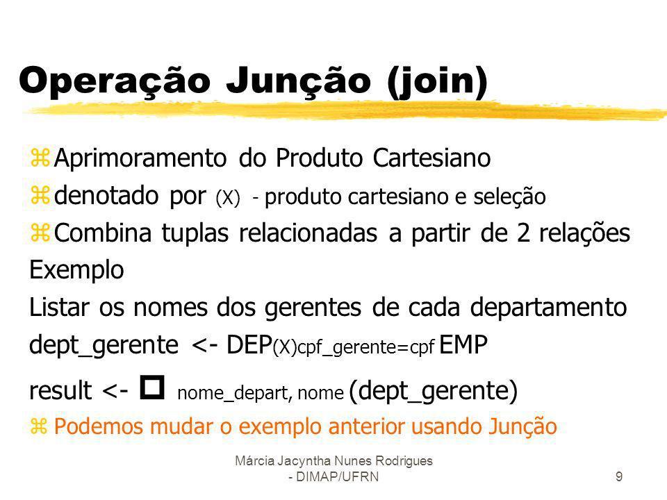 Operação Junção (join)