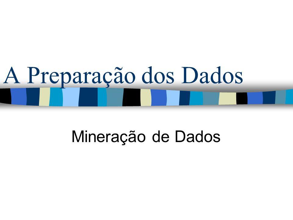 A Preparação dos Dados Mineração de Dados