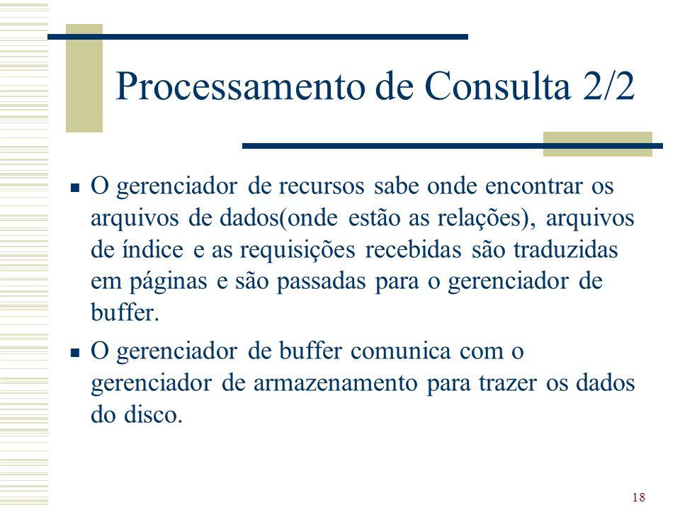 Processamento de Consulta 2/2