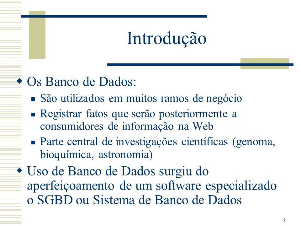 Introdução Os Banco de Dados:
