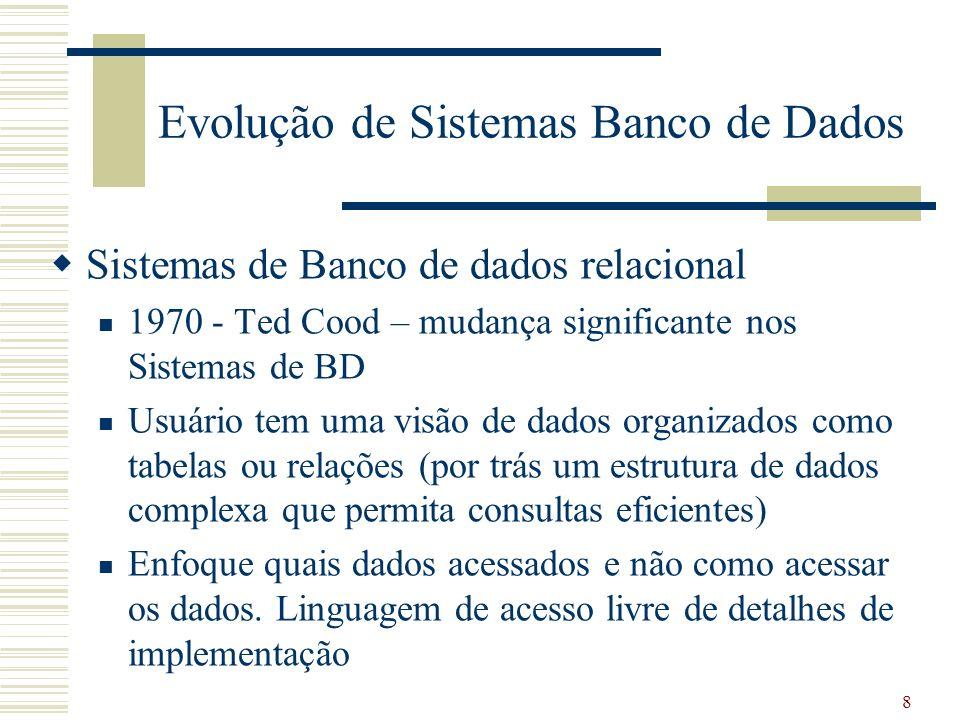 Evolução de Sistemas Banco de Dados