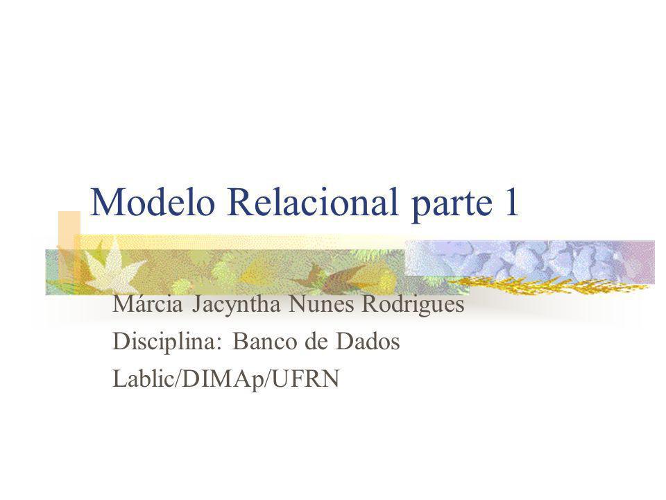 Modelo Relacional parte 1