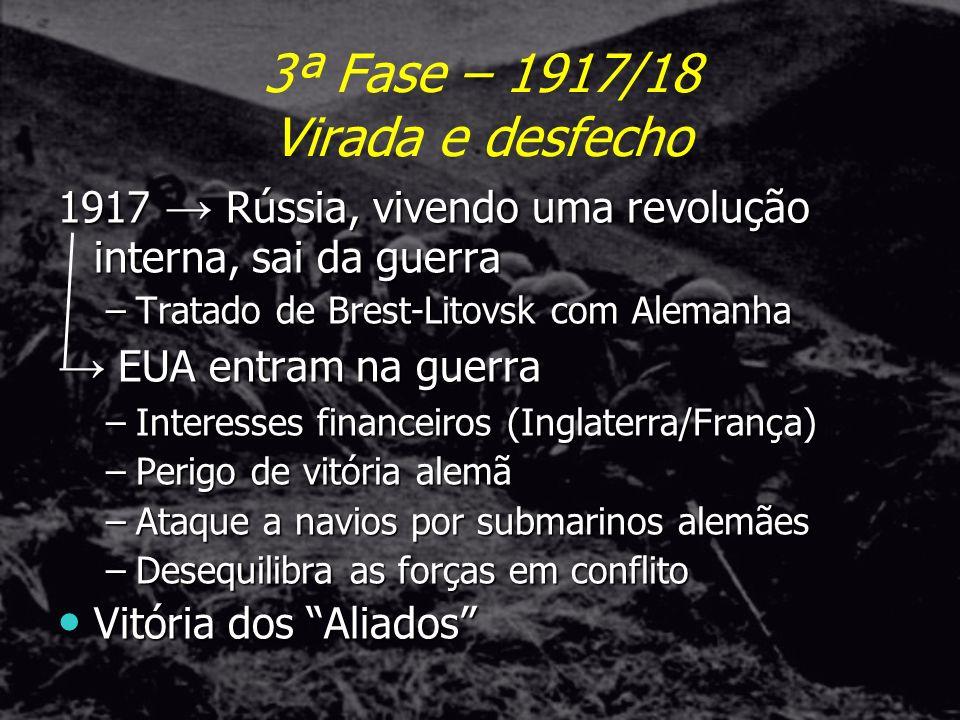 3ª Fase – 1917/18 Virada e desfecho