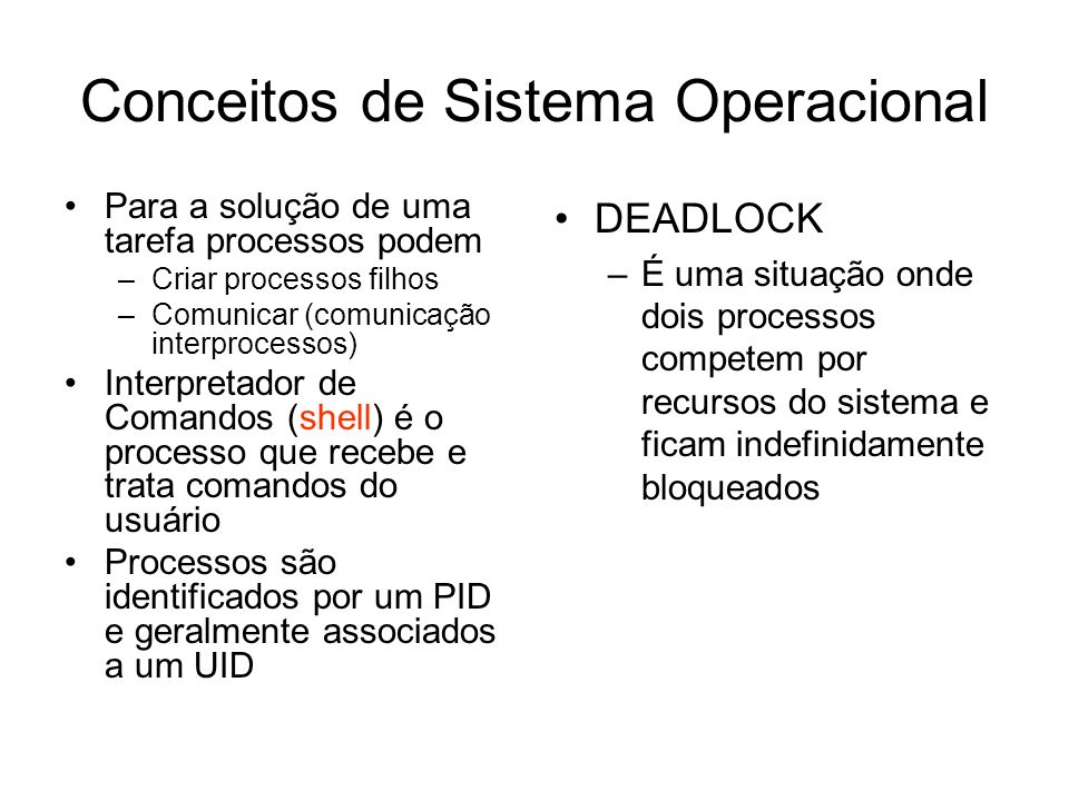 Conceitos de Sistema Operacional