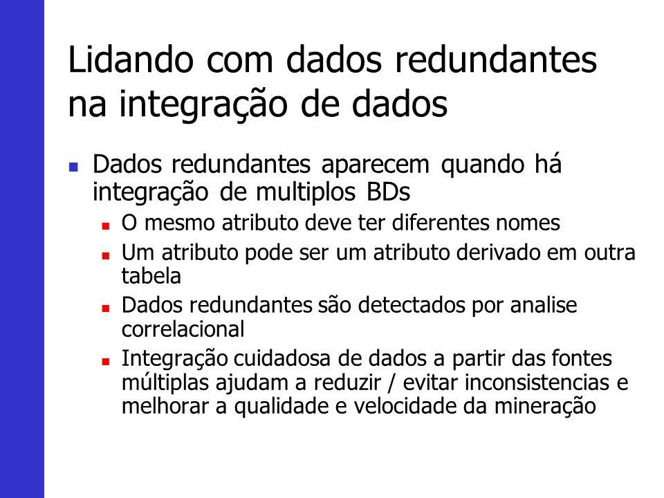Lidando com dados redundantes na integração de dados