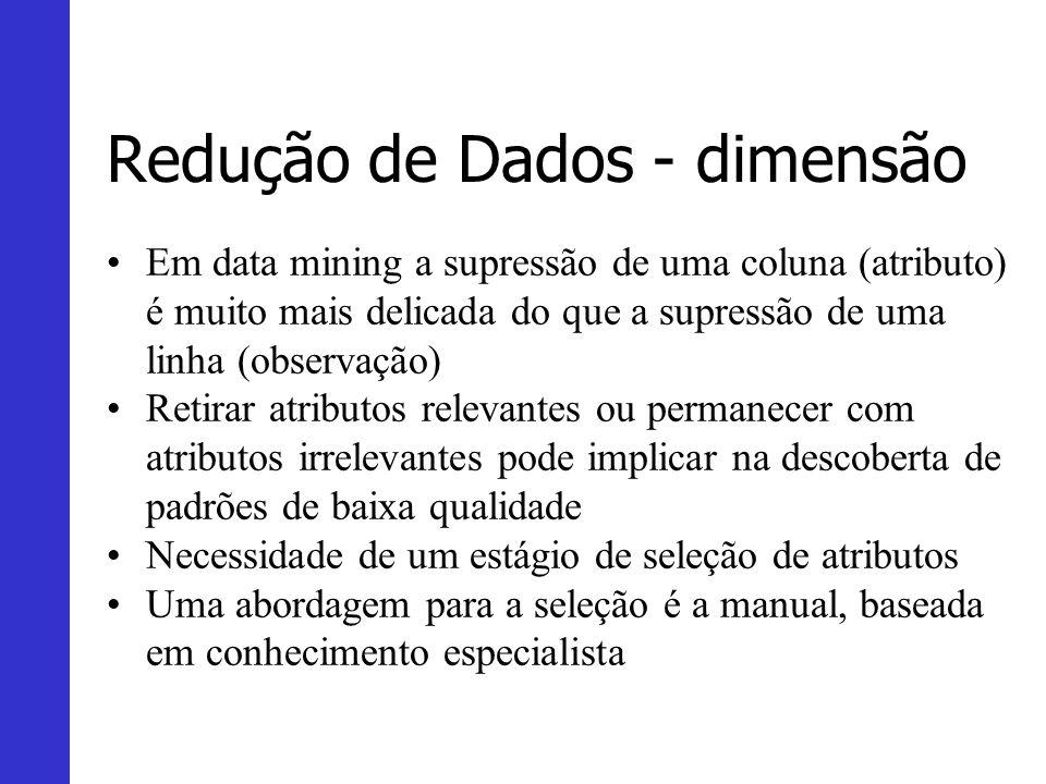 Redução de Dados - dimensão