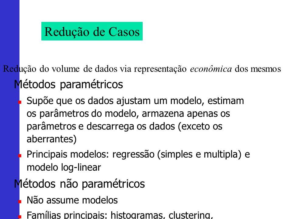 Redução de Casos Métodos paramétricos Métodos não paramétricos