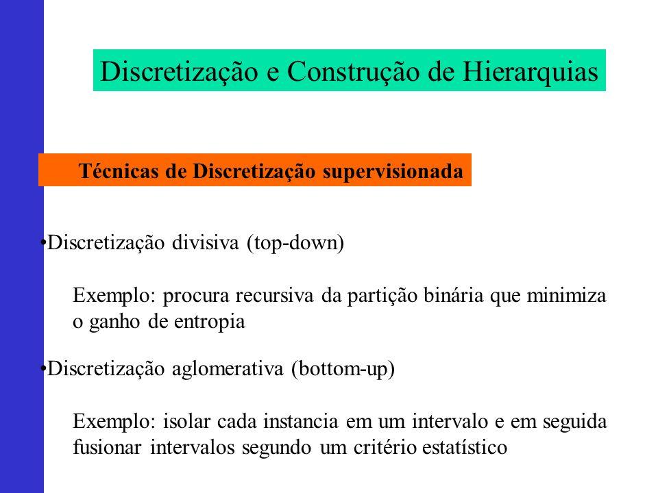 Discretização e Construção de Hierarquias