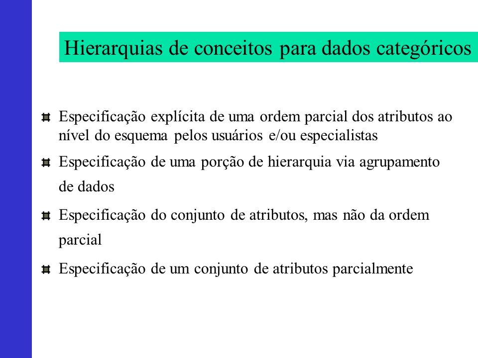 Hierarquias de conceitos para dados categóricos