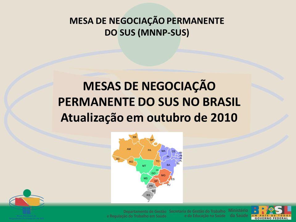 PERMANENTE DO SUS NO BRASIL Atualização em outubro de 2010