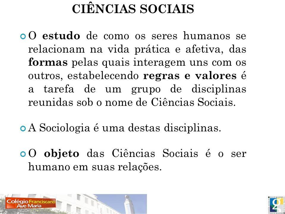 CIÊNCIAS SOCIAIS
