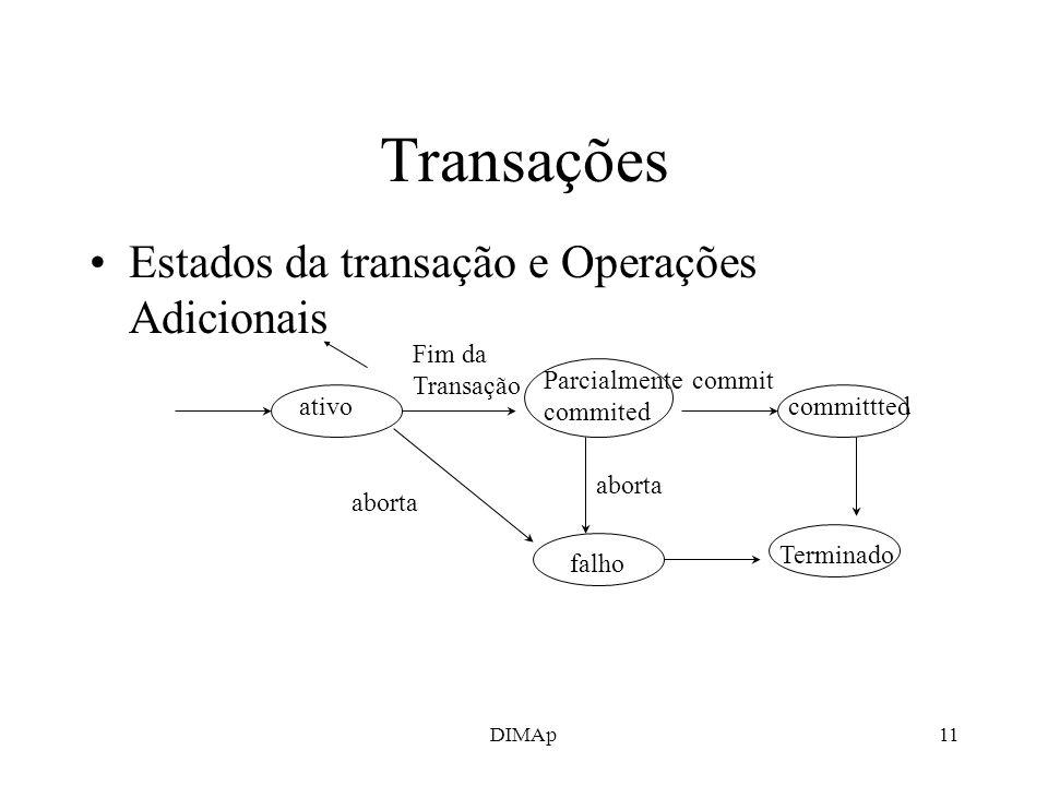 Transações Estados da transação e Operações Adicionais