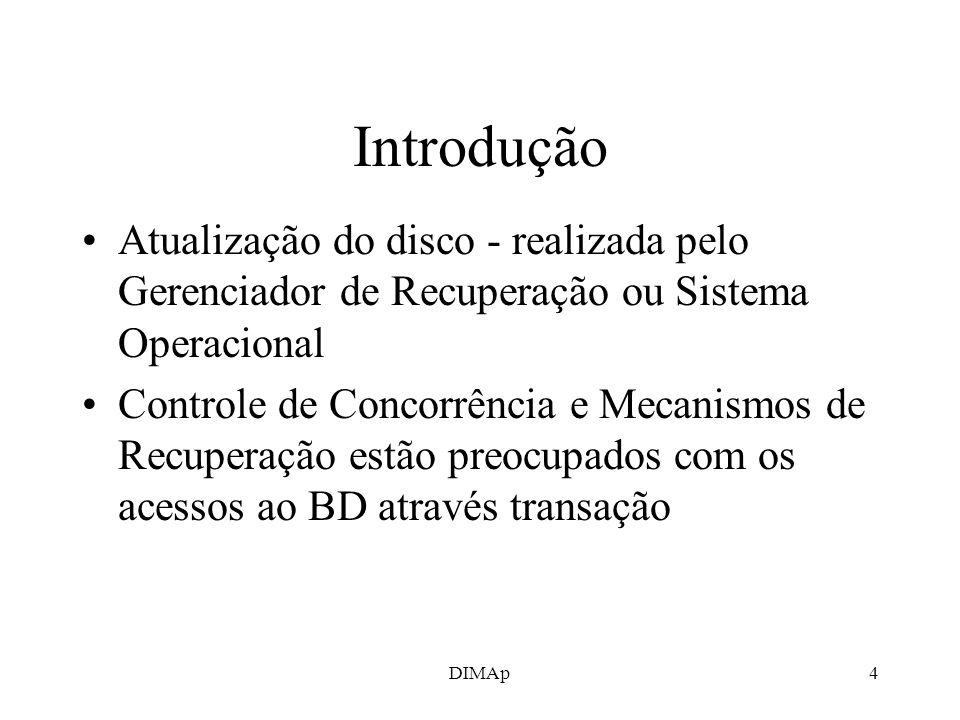 Introdução Atualização do disco - realizada pelo Gerenciador de Recuperação ou Sistema Operacional.