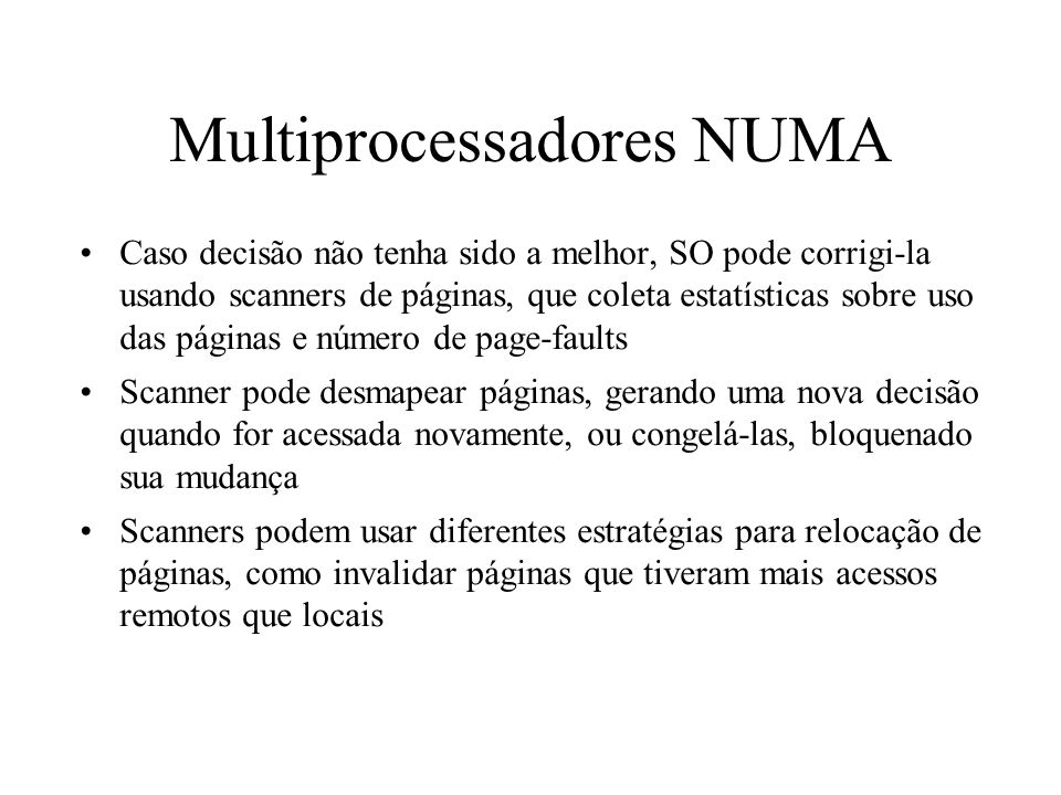 Multiprocessadores NUMA