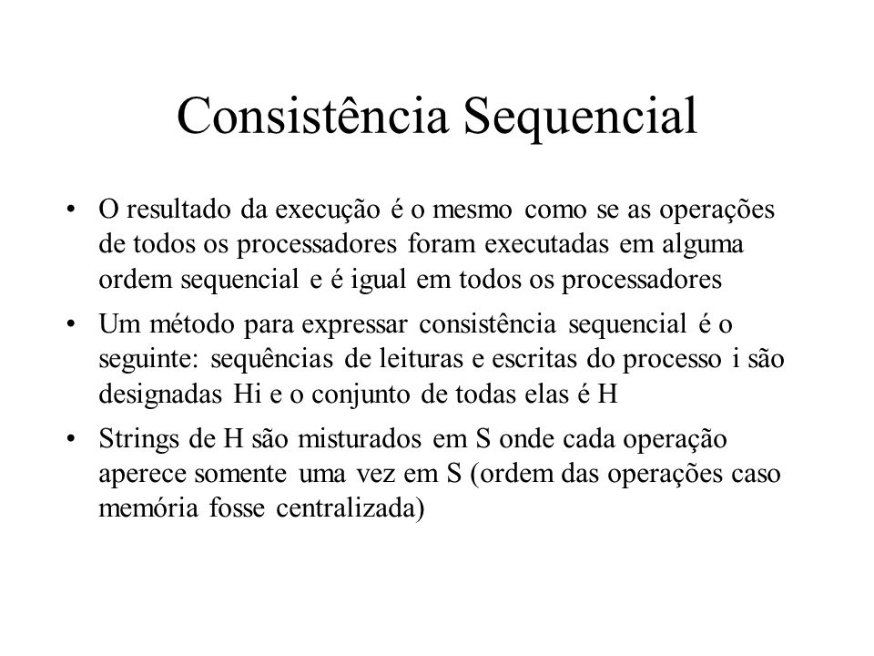 Consistência Sequencial
