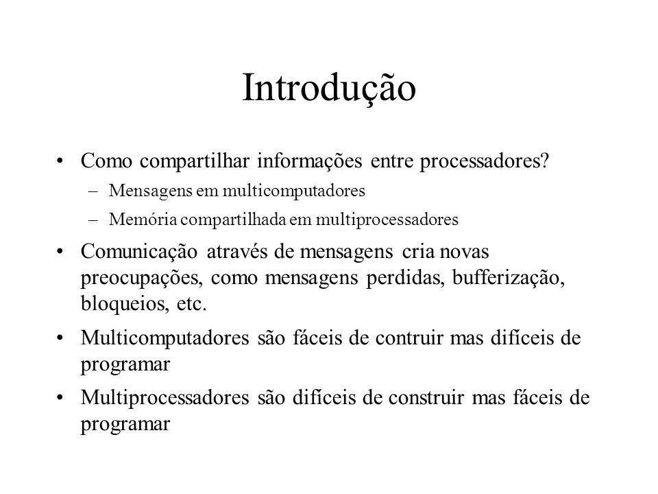Introdução Como compartilhar informações entre processadores