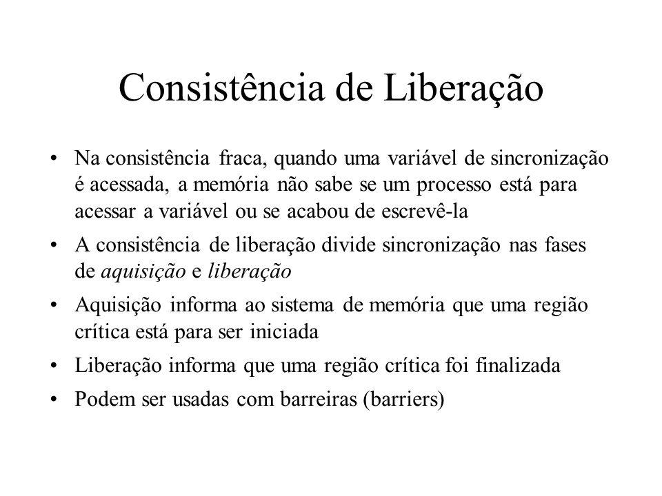 Consistência de Liberação