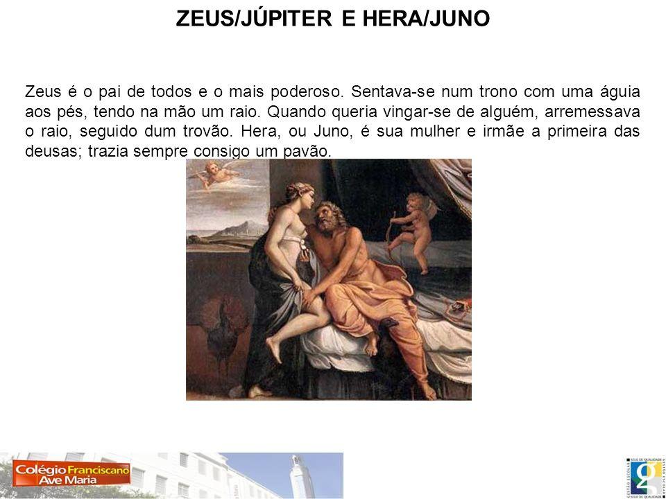 ZEUS/JÚPITER E HERA/JUNO