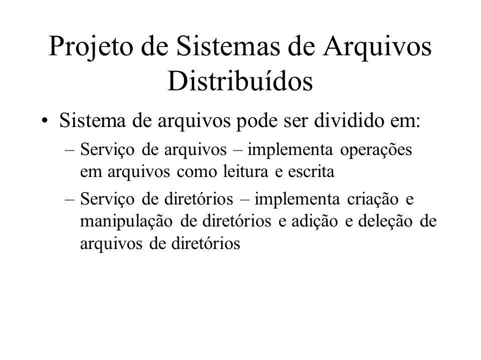 Projeto de Sistemas de Arquivos Distribuídos