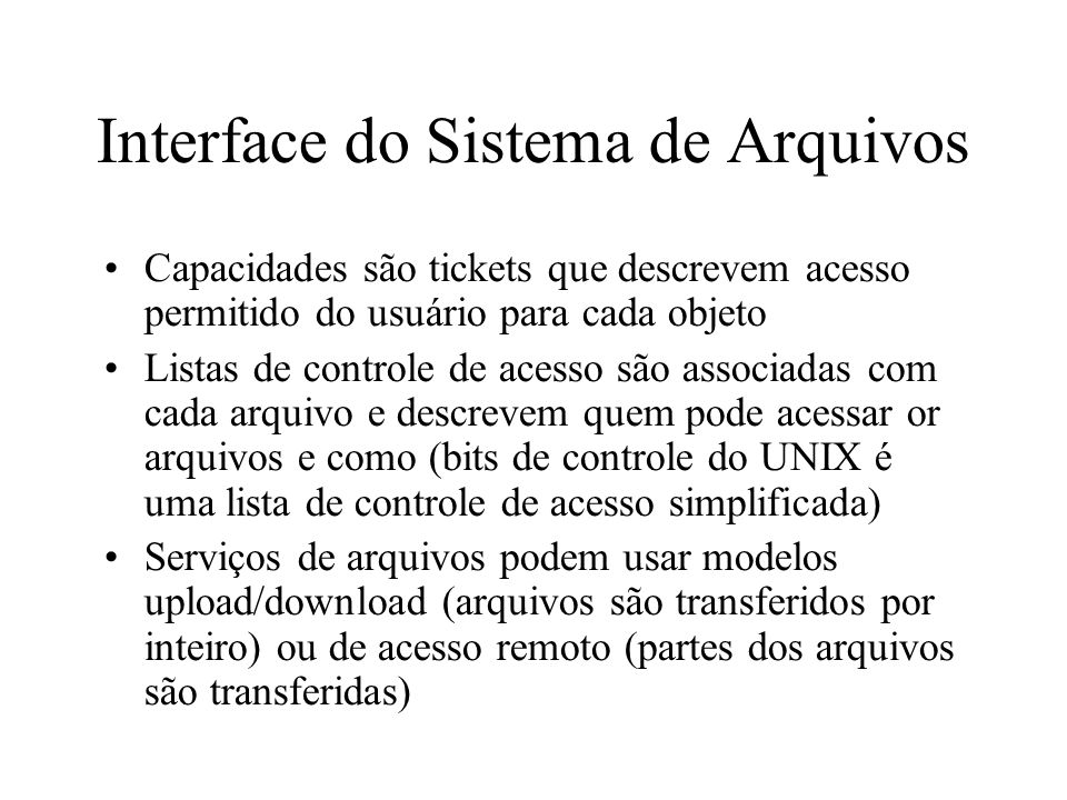 Interface do Sistema de Arquivos