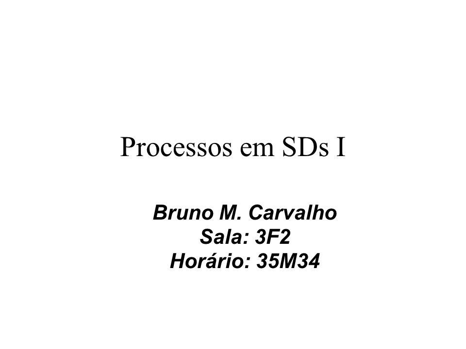 Bruno M. Carvalho Sala: 3F2 Horário: 35M34