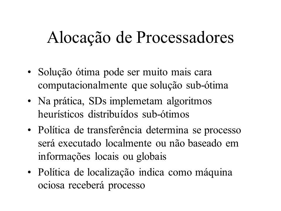 Alocação de Processadores