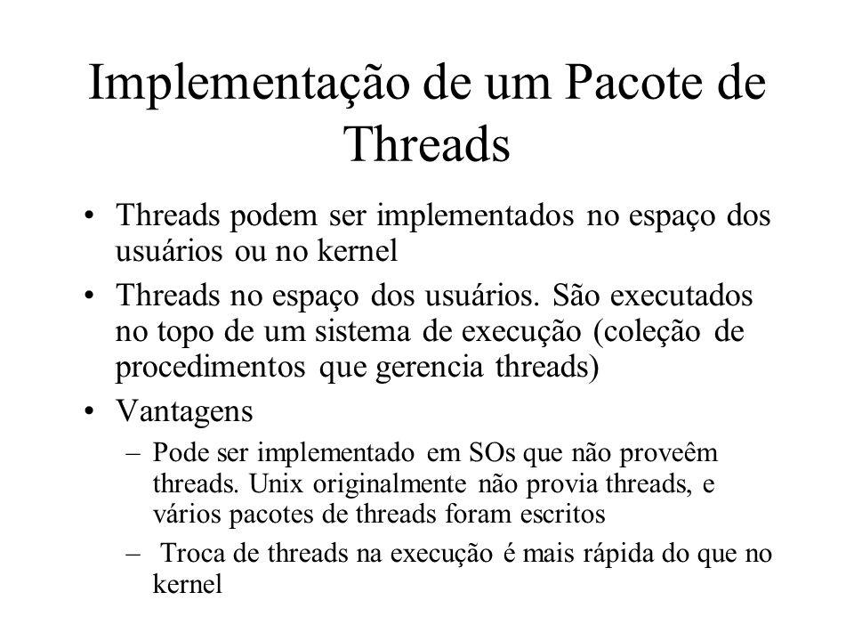 Implementação de um Pacote de Threads