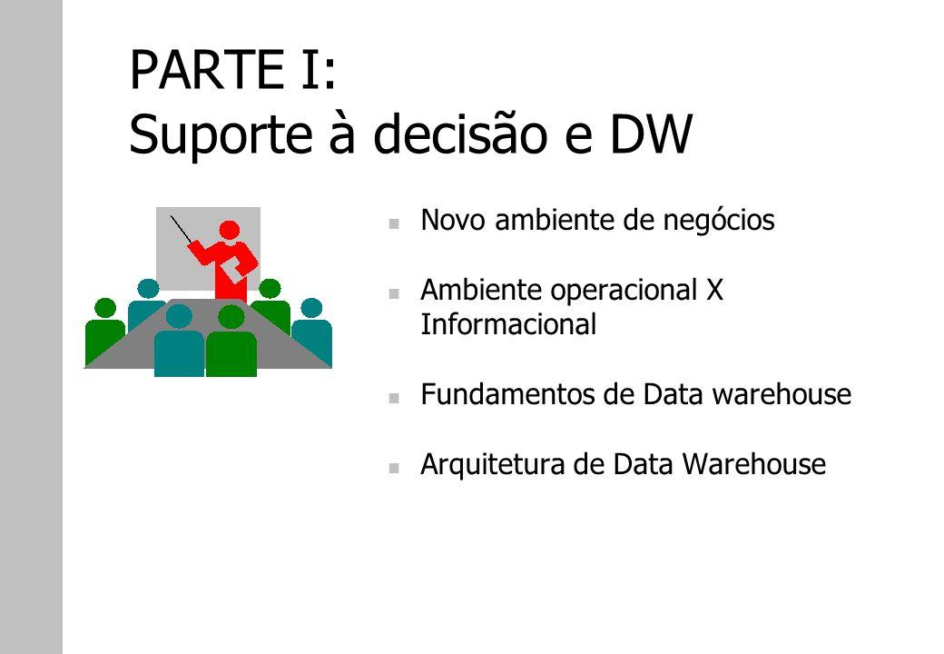 PARTE I: Suporte à decisão e DW