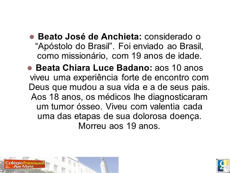 Beato José de Anchieta: considerado o Apóstolo do Brasil