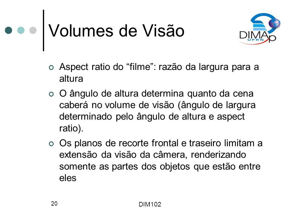 Volumes de Visão Aspect ratio do filme : razão da largura para a altura.