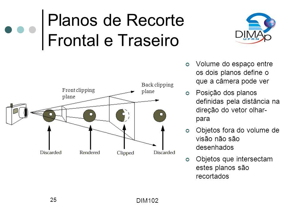 Planos de Recorte Frontal e Traseiro
