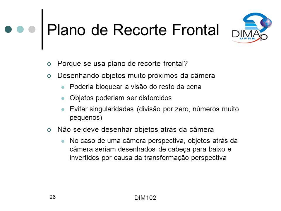 Plano de Recorte Frontal