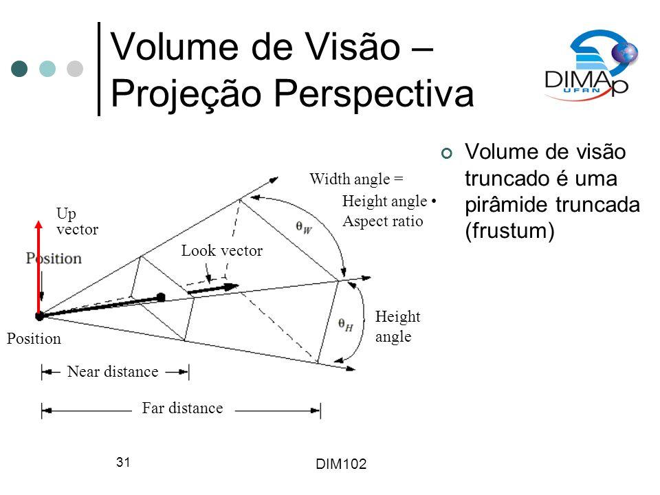 Volume de Visão – Projeção Perspectiva