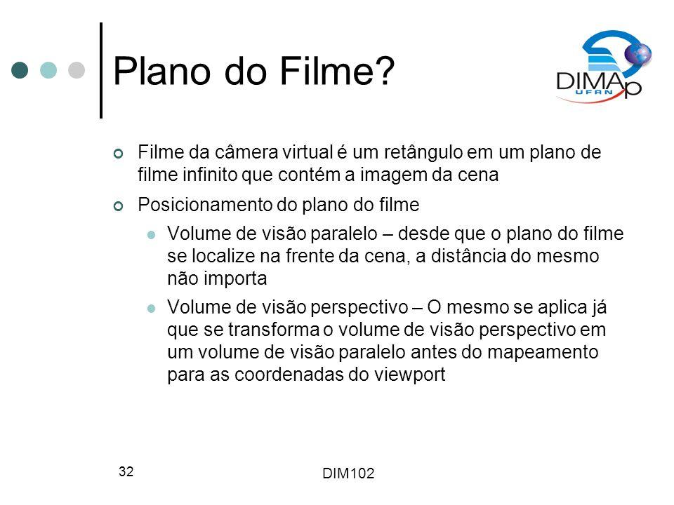 Plano do Filme Filme da câmera virtual é um retângulo em um plano de filme infinito que contém a imagem da cena.