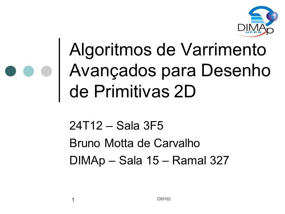 Algoritmos de Varrimento Avançados para Desenho de Primitivas 2D