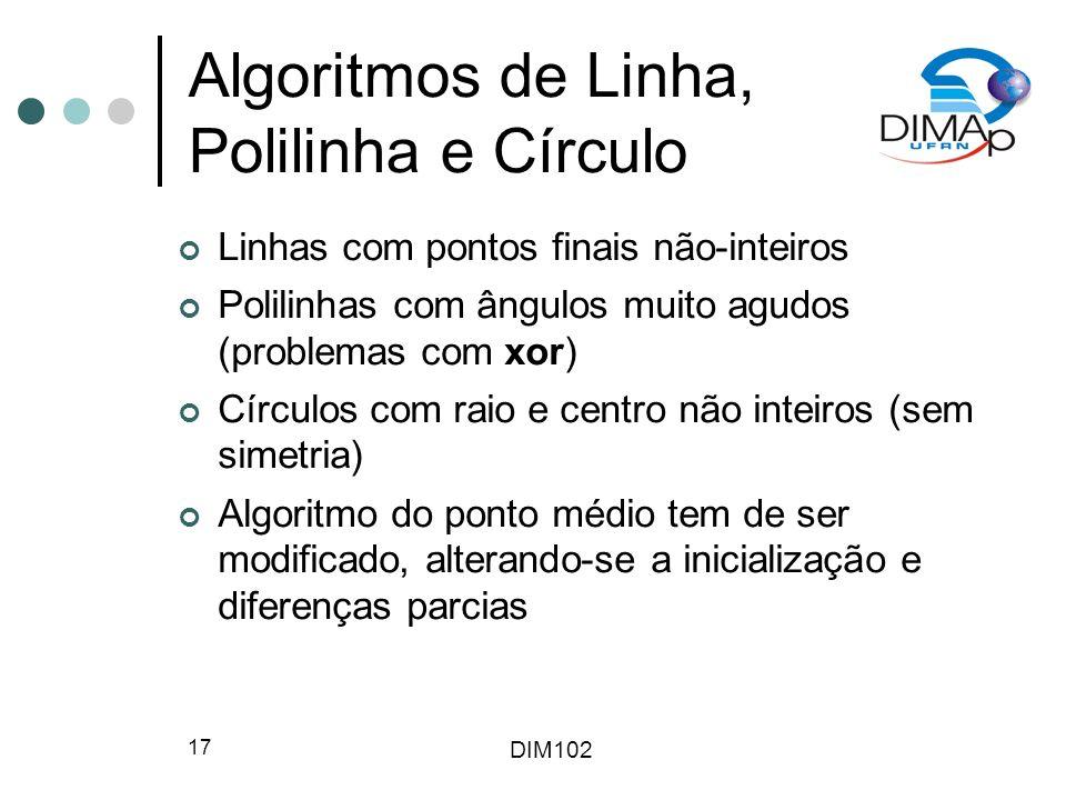 Algoritmos de Linha, Polilinha e Círculo
